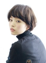 柔らかかわいいマッシュボブ(髪型ショートヘア)