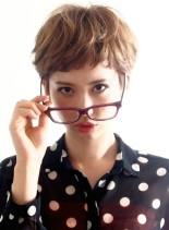 ☆眼鏡の似合う大人可愛いベリーショート☆(髪型ショートヘア)