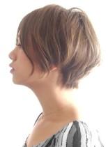 ☆大人の美シルエット ショートボブ☆ (髪型ショートヘア)