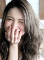 簡単スタイリング☆ブルージュカラー☆(髪型ロング)