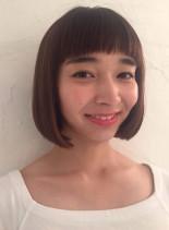 ツヤ髪つるんと個性派ボブ(髪型ボブ)
