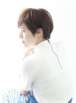 ナチュラルなミニマムショートスタイル(髪型ショートヘア)