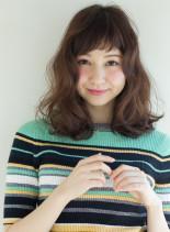 ベビーバングが可愛い☆愛されゆるふわロブ(髪型ミディアム)