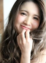 ブルージュカラー☆簡単かきあげバング(髪型ロング)