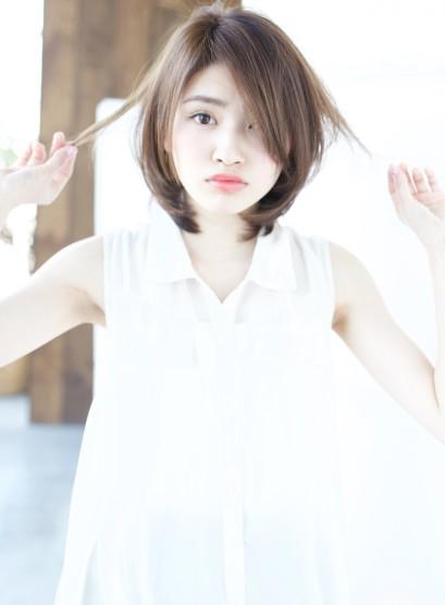 春のハイレイヤー 縮毛矯正◎(髪型ミディアム)