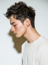 ★ミリタリーアップバングショート★(髪型メンズ)
