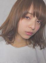 透け感外ハネカールボブ(髪型ボブ)