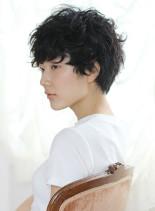 コットンパーマ(髪型ショートヘア)