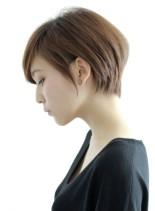 ☆大人シンプル美フォルムショート☆(髪型ショートヘア)