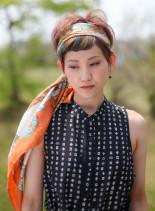 ボヘミアンスタイル(髪型ショートヘア)