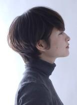 大人カジュアル ナチュラル綺麗めショート(髪型ショートヘア)
