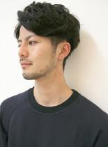 大人カッコいい・外国人風ツーブロック(髪型メンズ)