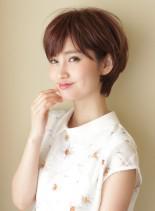 大人女性・耳かけショートボブ(髪型ショートヘア)