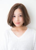 大人可愛い人気No1カジュアルボブ(髪型ボブ)