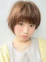 可愛さ抜群の小顔ショートボブ(髪型ショートヘア)