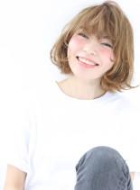 ヘルシー+カジュアル+ウェーブ(髪型ボブ)