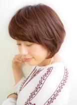 ミセスショートボブ(髪型ショートヘア)