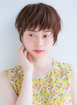 小顔に見せる2016夏ショート(髪型ショートヘア)
