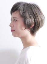 大人のハイトーン ショートボブ(髪型ショートヘア)