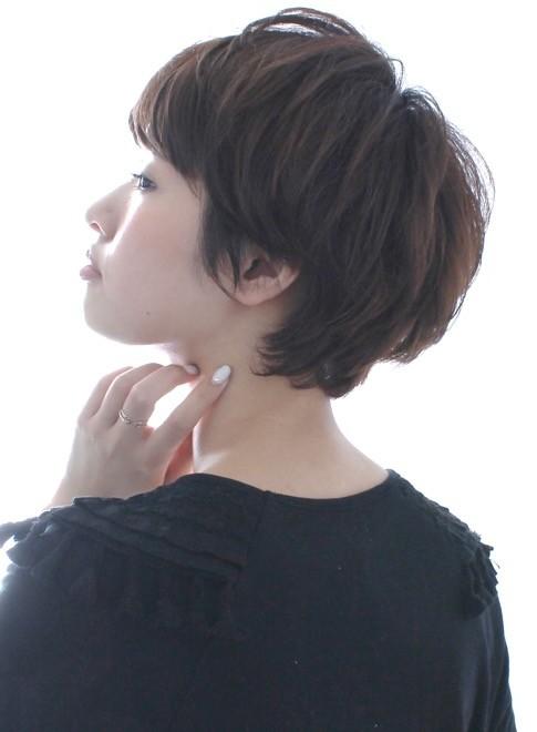 トップのボリューム ふんわりショートヘア(髪型ショートヘア)