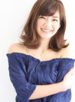 北川景子さん風ふわくしゅ外ハネミディアム(髪型ミディアム)