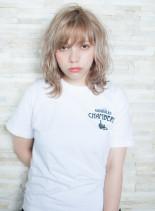 セミウェット×リッジカール(髪型ミディアム)
