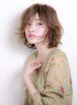 ツヤ肌に似合うセミウェットボブ☆(髪型ボブ)