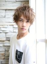 ミディアムスタイル(髪型メンズ)