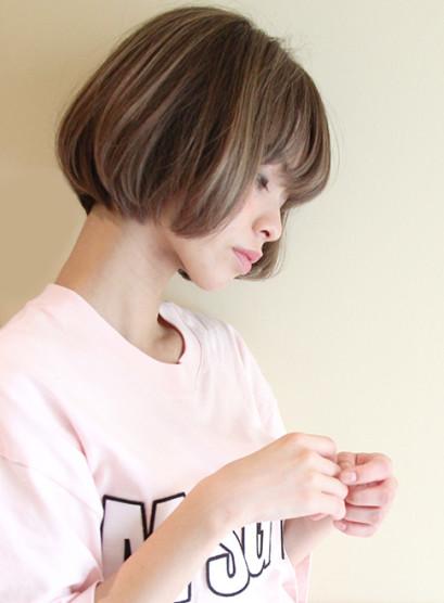 オトナ女性・お手入れ簡単なカッコいいボブ(髪型ボブ)