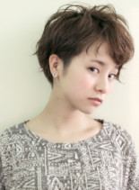 大人ヘルシーショート(髪型ショートヘア)