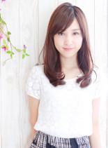 ローブラウン・大人ミディアム(髪型セミロング)