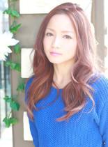 ピンクカジュアルラベンダー(髪型ロング)