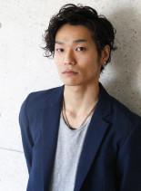 男の色気×無造作ニュアンスパーマ(髪型メンズ)