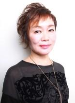 大竹しのぶ風アバンギャルドショートヘアー(髪型ショートヘア)