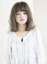 ☆小顔前髪!透明感カラーボブ☆(髪型ミディアム)