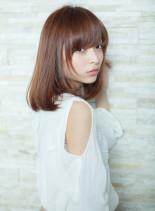 リラックスロブ(髪型ミディアム)