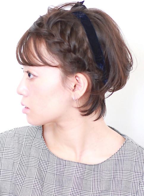 ショートヘア ショートで可愛いリボンアレンジ Beautrium Ginzaの