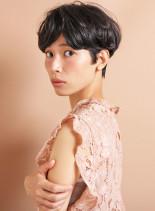 美シルエットショート(髪型ショートヘア)