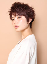 大人ショートマニッシュ(髪型ショートヘア)