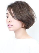 ◇ひし形シルエットの大人ショートボブ(髪型ボブ)