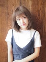 ワンカールレイヤースタイル(髪型ミディアム)