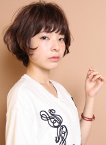 外国人風エアリーショート(髪型ショートヘア)