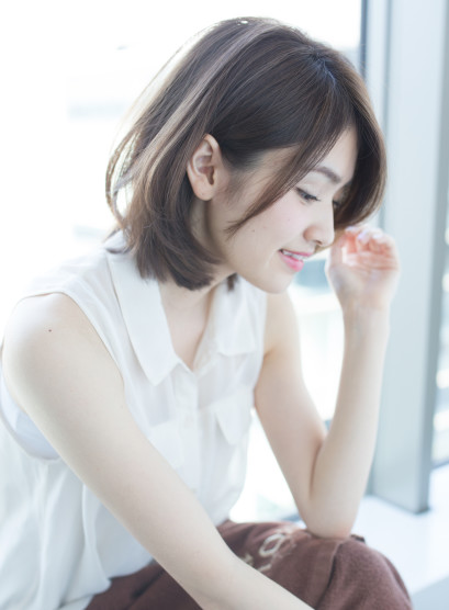 美シルエット 縮毛矯正◎(髪型ミディアム)