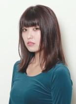 """""""柔らかい""""動きの出るレイヤーロブ(髪型ミディアム)"""