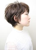 ふんわり大人ショート(髪型ショートヘア)