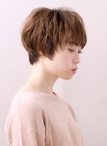 ナチュラルエアリーショート(髪型ショートヘア)