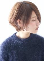 小顔効果 30代40代 大人ショートボブ(髪型ショートヘア)
