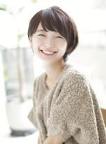 ナチュラル×艶【小顔ショート】(髪型ショートヘア)