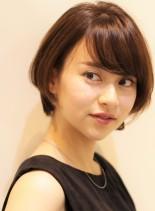 大人女子に人気のショートボブ♪小顔効果◎(髪型ショートヘア)