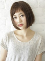 大人のショートバング♪シンプルボブ☆(髪型ボブ)